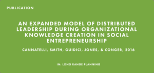 Publication: An Expanded Model of Distributed Leadership During Organizational Knowledge Creation in Social Entrepreneurship