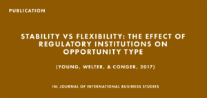 Publication: Stability vs. Flexibility: The Effect of Regulatory Institutions on Opportunity Type