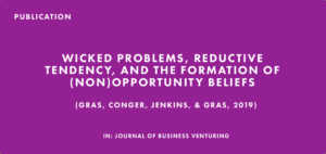 Publication: Wicked Problems, Reductive Tendency, and the Formation of (Non)Opportunity Beliefs